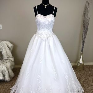 White Ballgown Wedding Dress
